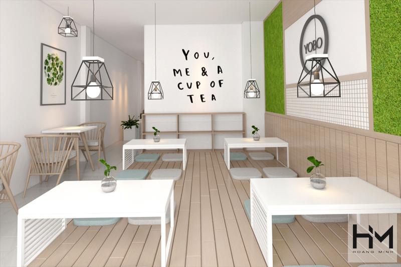 4 kinh nghiệm thiết kế quán trà sữa nhỏ