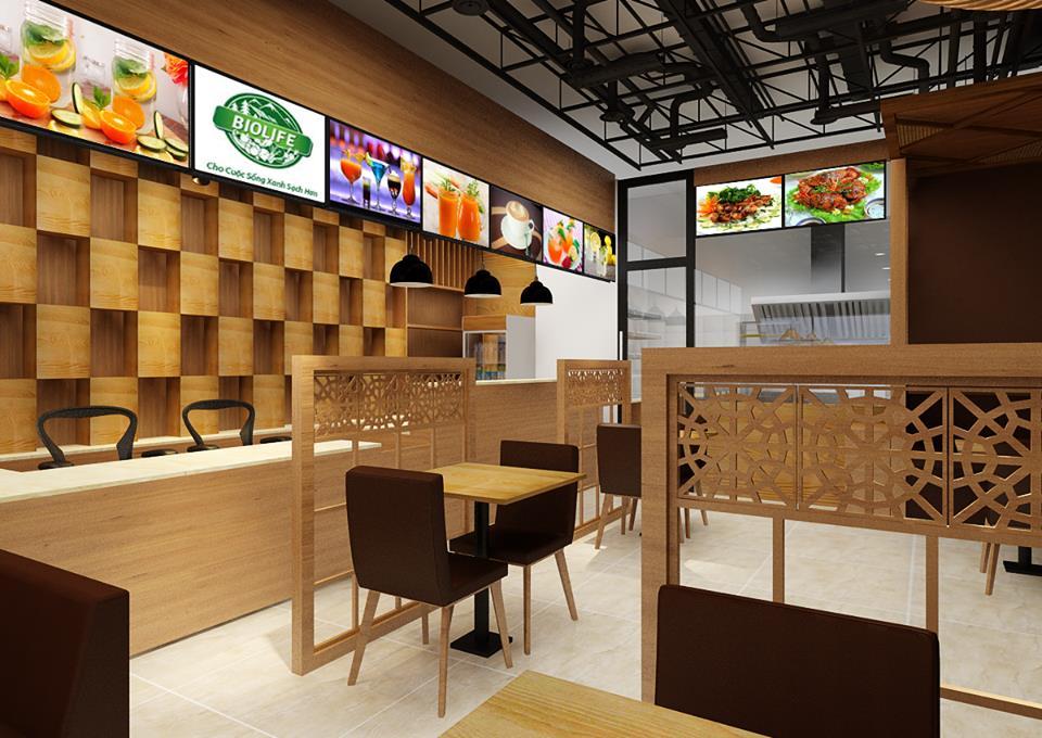 Dịch vụthi công nội thất nhà hàng ăn uống phong cách riêng biệt