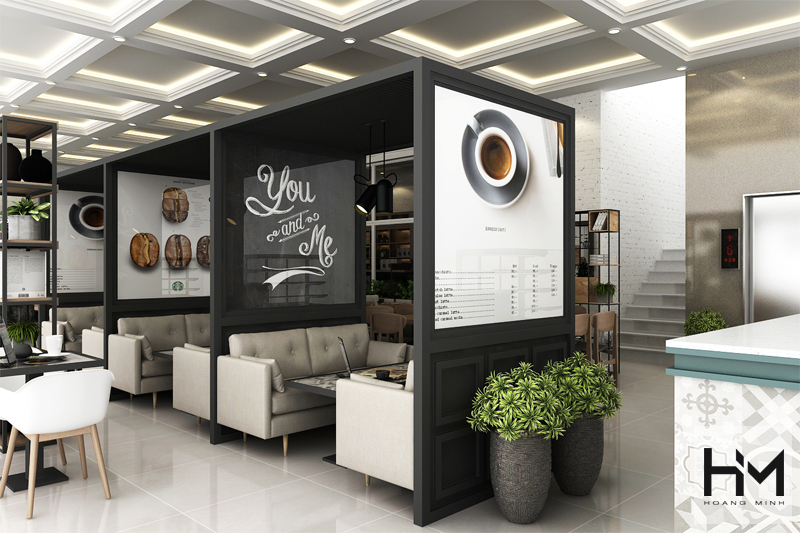 Thiết kế quán cafe DANO
