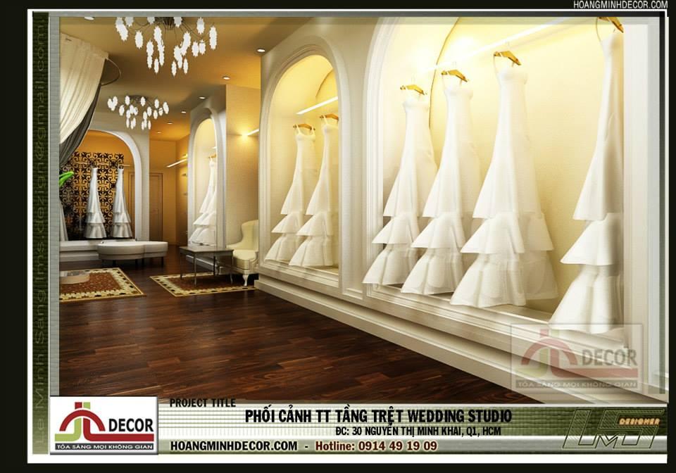 Thiết kế nội thất showroom áo cưới NTMK
