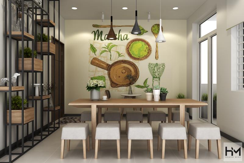 Thiết kế quán trà sữa Tocotoco Lê Trọng Tấn