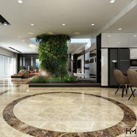 Thiết kế nội thất căn hộ Penhouse 4S Thủ Đức, 245m2, Anh Minh