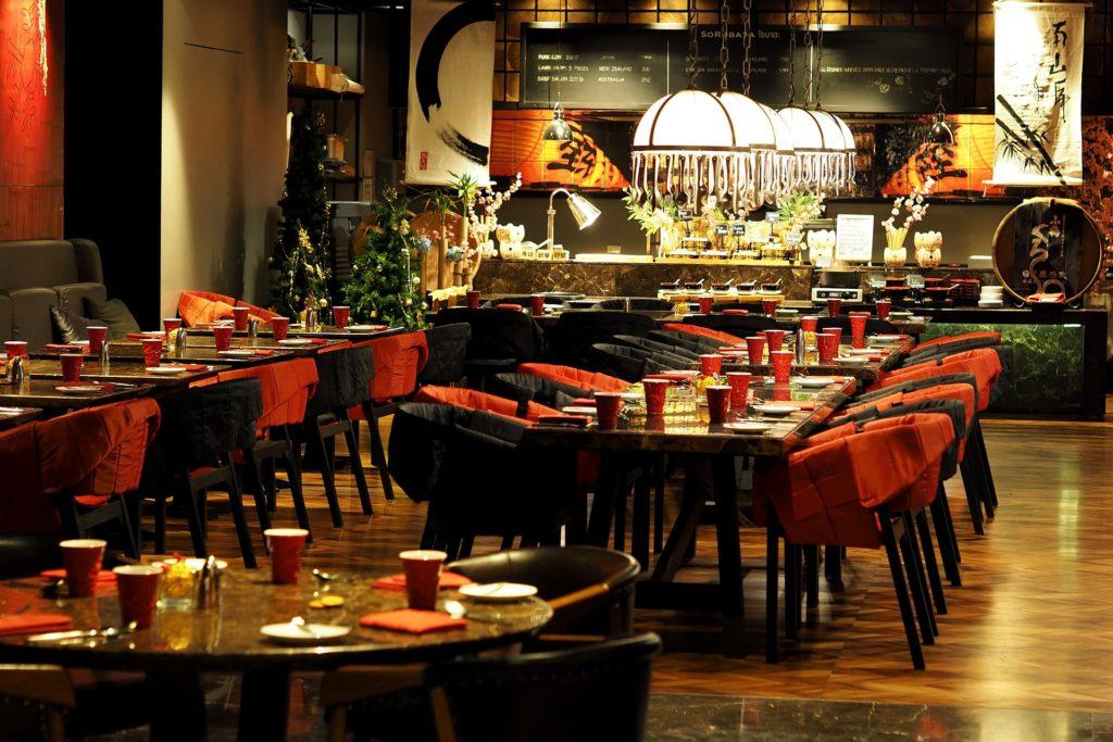 Màu sắc nội thất nhà hàng