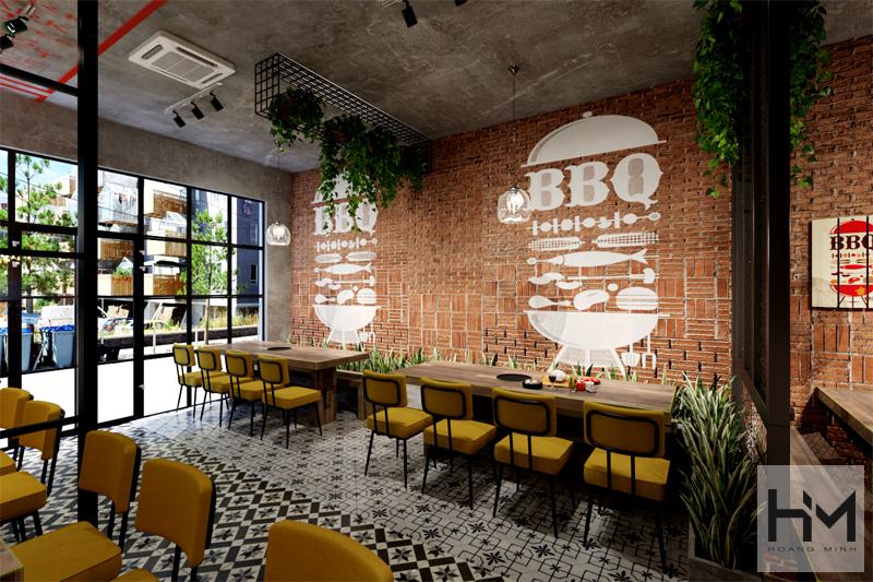 Thiết kế nhà hàng BBQ ĐỨC TRỌNG