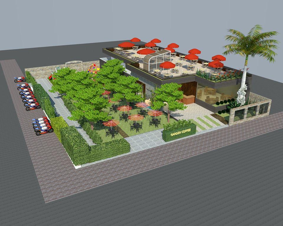 Thiết kế quán Cafe sân vườn DANITAS