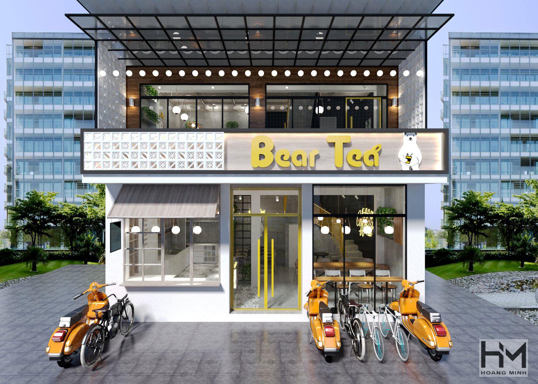 Thiết kế quán cafe Bear Tea