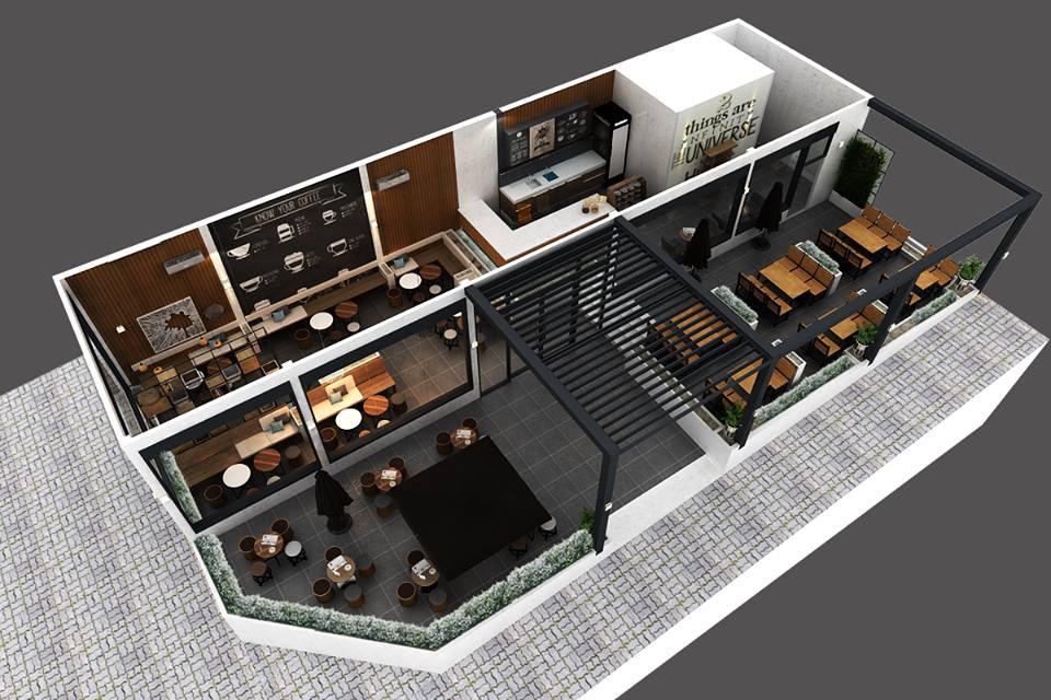 Thiết kế quán cafe Po Lăng