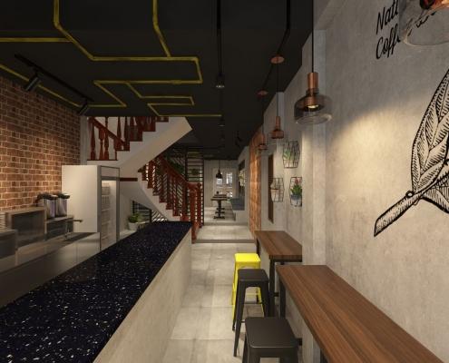 ông trình : Thiết kế quán cafe YUMME Đơn vị thiết kế : Công ty thiết kế nội thất Hoàng Minh Decor Lĩnh vực : Thiết kế thi công nội thất quán cafe, trà sữa. Địa điểm : Nguyễn Bỉnh Khiêm , Quận 1, TP HCM. Yêu cầu thiết kế : Thiết kế không gian hiện đại, đơn giản và kết hợp phong cách thô mộc Liên hệ : 0914 49 19 09 Email : info.hoangminhdecor@gmail.com MỘT SỐ HÌNH ẢNH THIẾT KẾ QUÁN CAFE YUMME