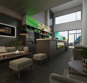 thiết kế nội thất quán trà cafe Tea Time: