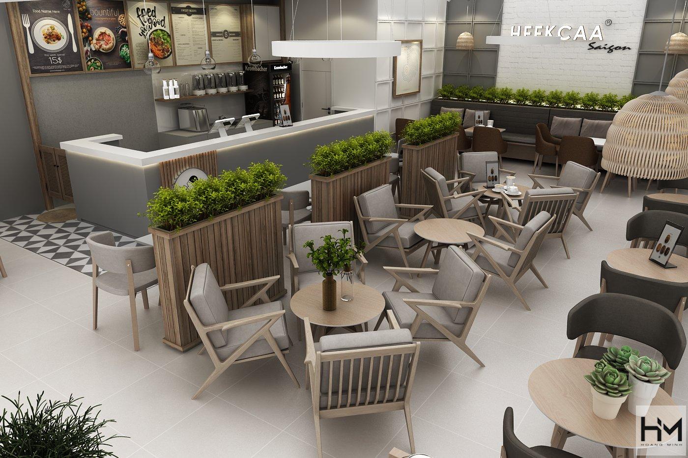 Hình ảnh thiết kế nội thất quán trà sữa đơn giản đẳng cấp