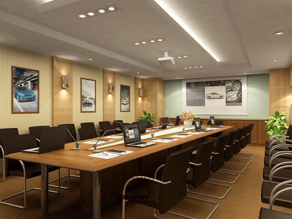 Dịch vụ thi công nội thất phòng họp sang trọng hiệu quả
