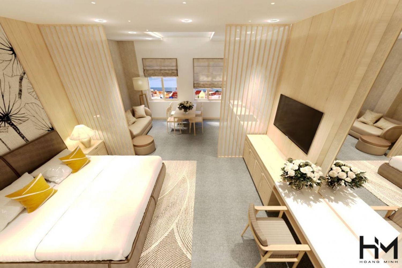 Thiết kế và thi công không gian khách sạn quý phái