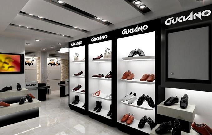 Thiết kế nội thất showroom giày dép