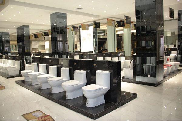 thiet ke showroom thiết bị vệ sinh