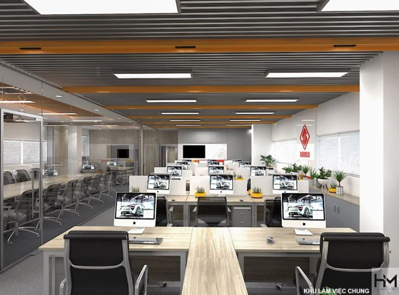 Công ty thiết kế không gian văn phòng làm việc chuyên nghiệp