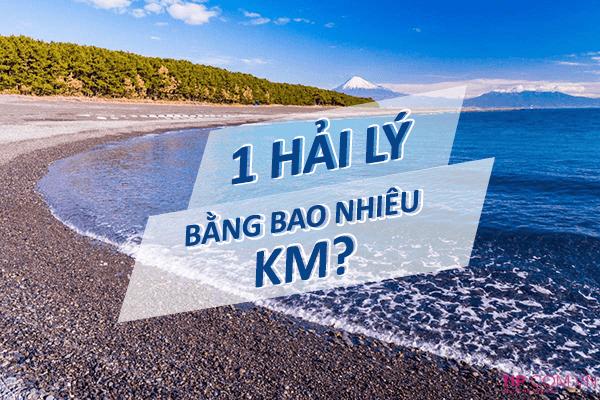 1 hải lý bằng bao nhiêu km?