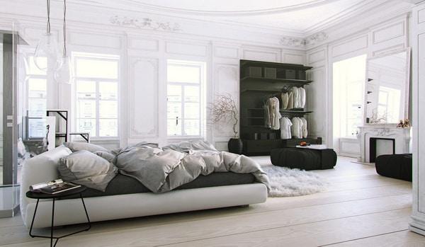 Phong cách Scandinavian trong thiết kế phòng ngủ. ảnh sưu tầm