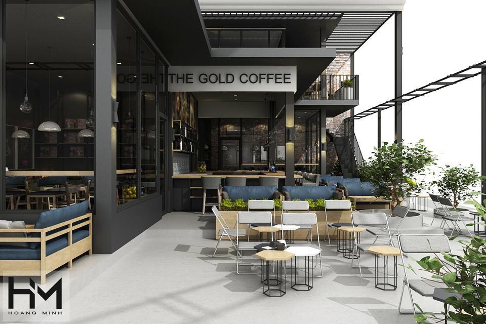 Thiết kế quán cafe đẹp, sang trọng thu hút khách.
