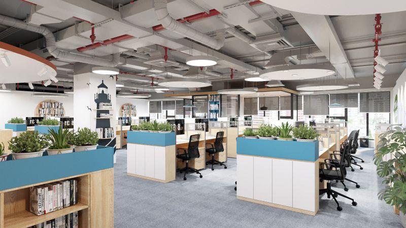 Giá thi công nội thất văn phòng 100m2 phong cách riêng biệt
