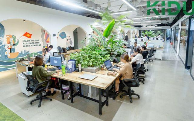 Hình ảnh thiết kế và thi công nội thất văn phòng xanh ấn tượng