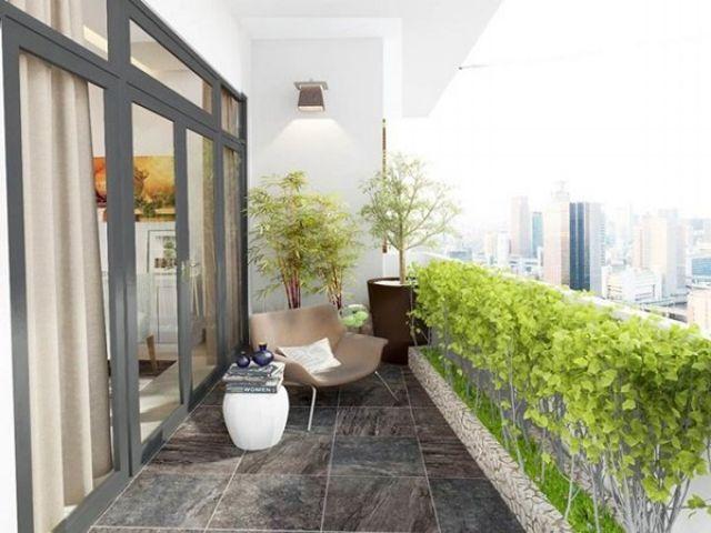 Cách thiết kế trang trí ban công căn hộ chung cư đẹp