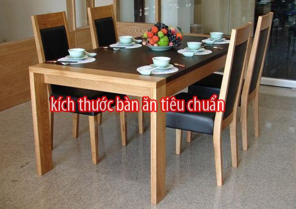 Kích thước bàn ăn tiêu chuẩn từ 2,4,6,8,10 người.
