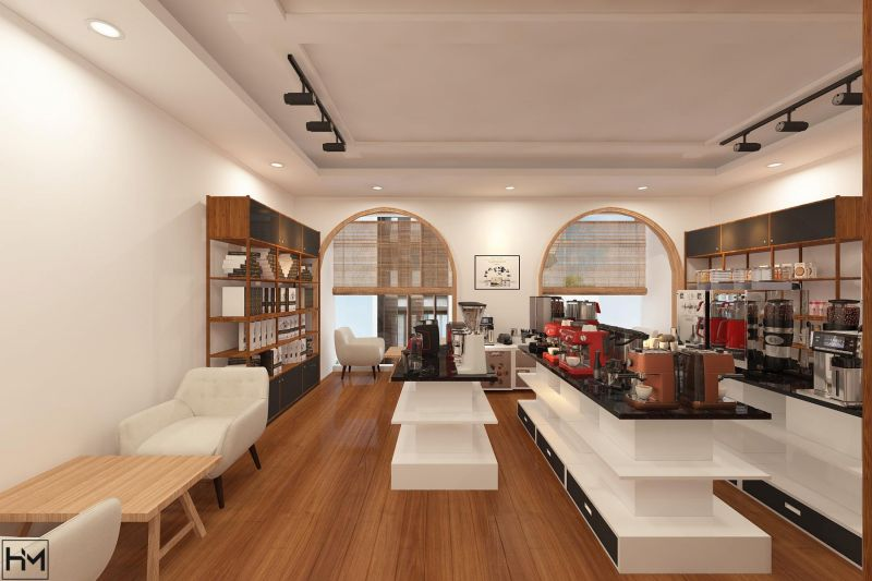 thiet ke quan cafe Trung Nguyen 540m2