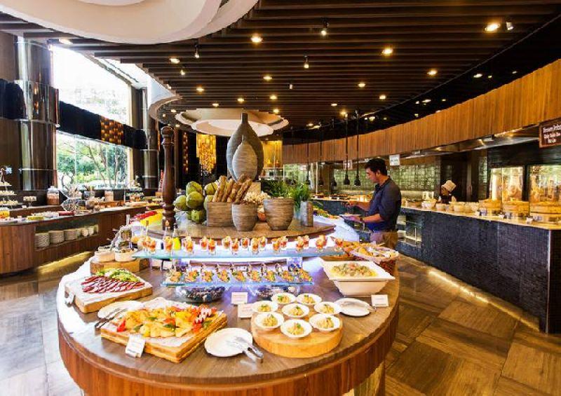 Thi công không gian nhà hàng buffet dịch vụ ưu đãi