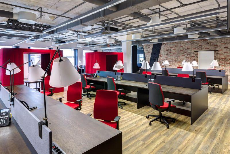 Mẫu thiết kế văn phòng diện tích lớn 300m2-1000m2