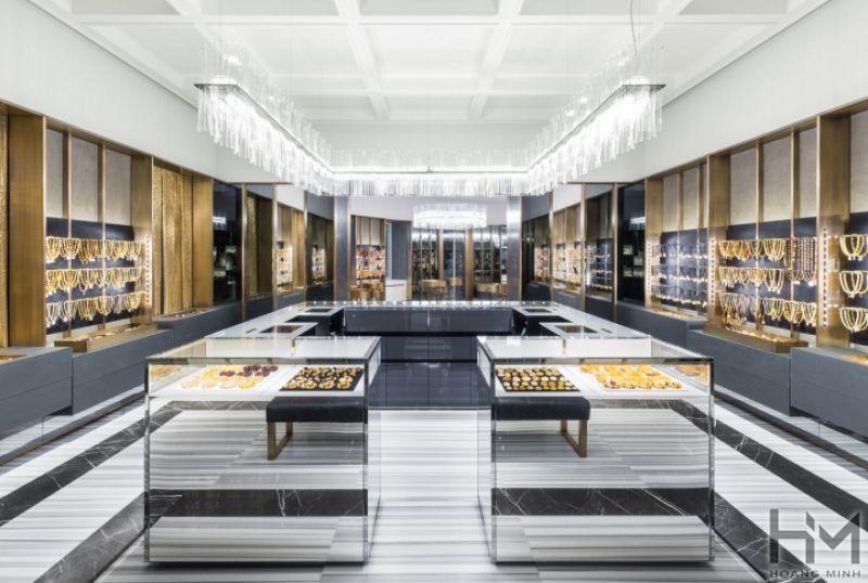 Thiết kế showroom, shop nữ trang, vàng bạc cao cấp