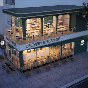 Thiết kế quán Laxy Coffee