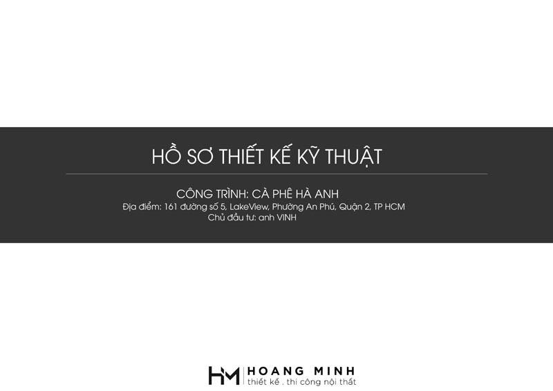 Hồ sơ thiết kế kỹ thuật quán cafe Hà Anh