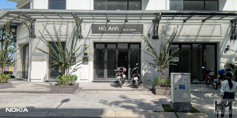 Mặt tiền thực tế quán cà phê Hà Anh