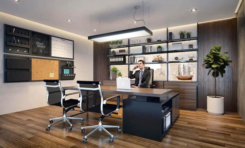 Báo giá thiết kế nội thất phòng giám đốc cao cấp xu hướng 2020