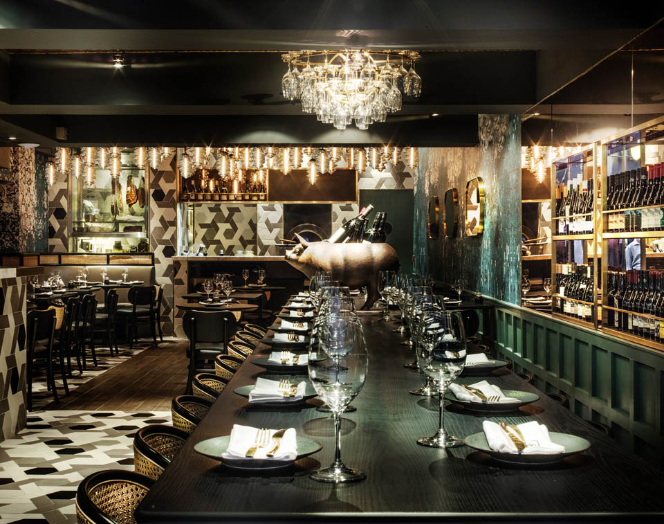 Mẫu Thiết kế và thi công không gian nhà hàng kiểu Pháp