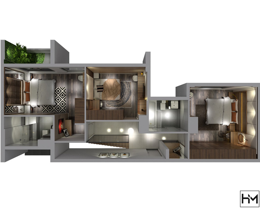Penthouse Q2 245m2 anh Trọng