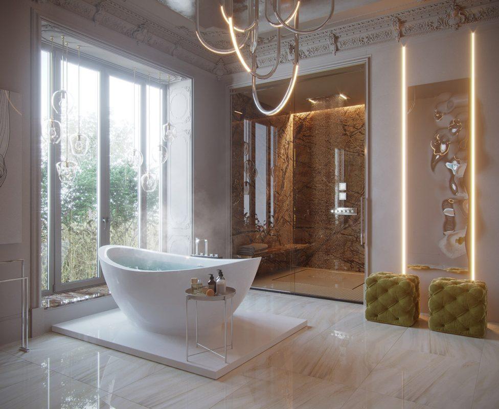 Thiết kế phòng tắm khách sạn