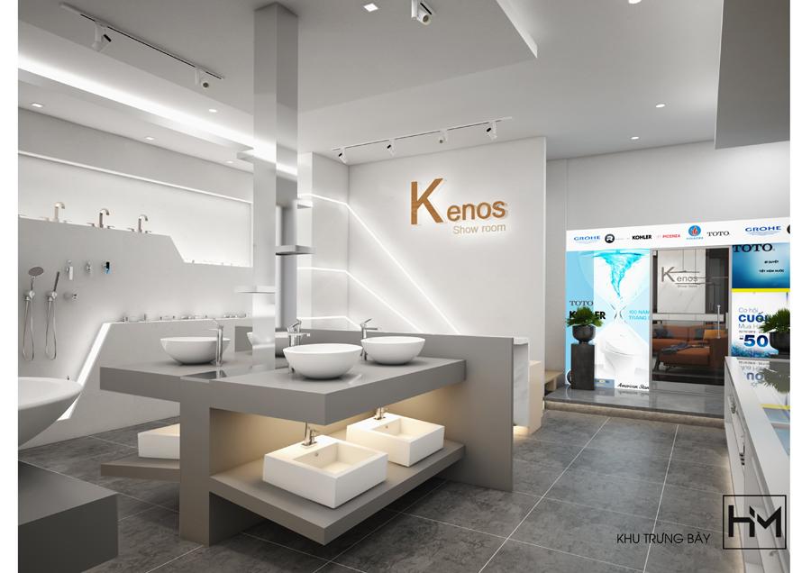 showroom thiet bi ve sinh Kenos