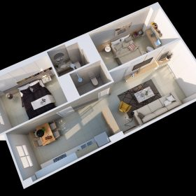 Thiết kế nội thất chung cư Ngô Gia Tự Chị Thủy 94m2, tối giản.