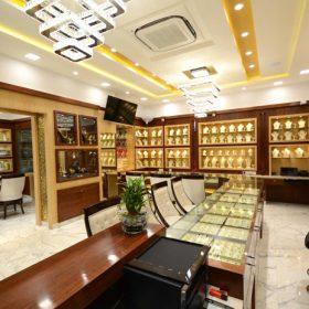 Thiết kế showroom trang sức đẹp, lung linh