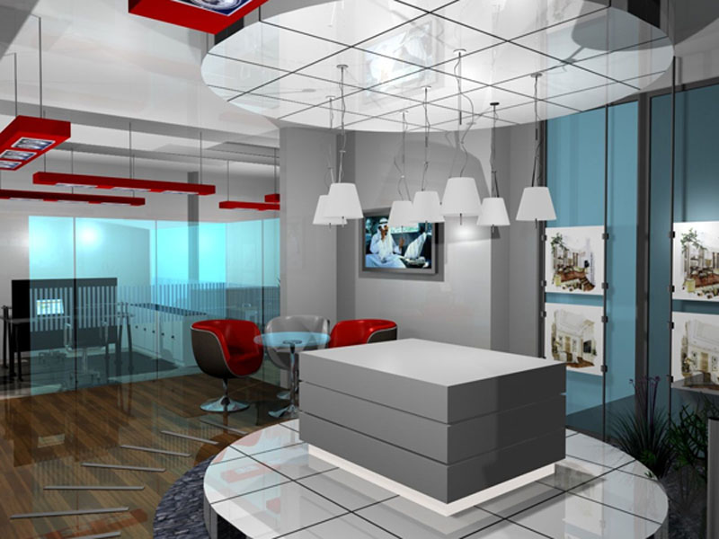 Những mẫu thiết kế thi công nội thất văn phòng bất động sản
