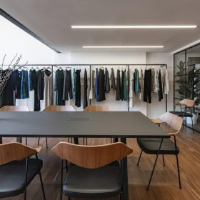 Thiết kế văn phòng công ty thời trang đẹp sang trọng.