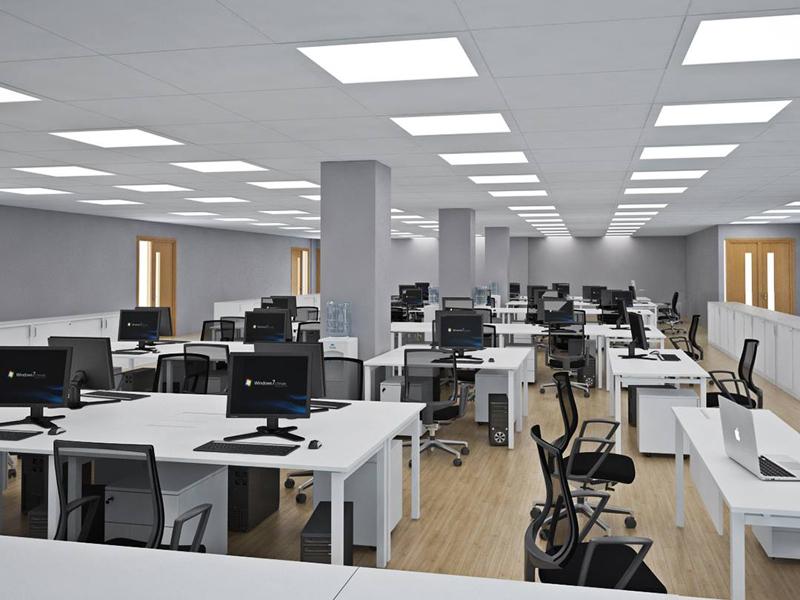 Đơn vị thi công không gian văn phòng làm việc bất động sản