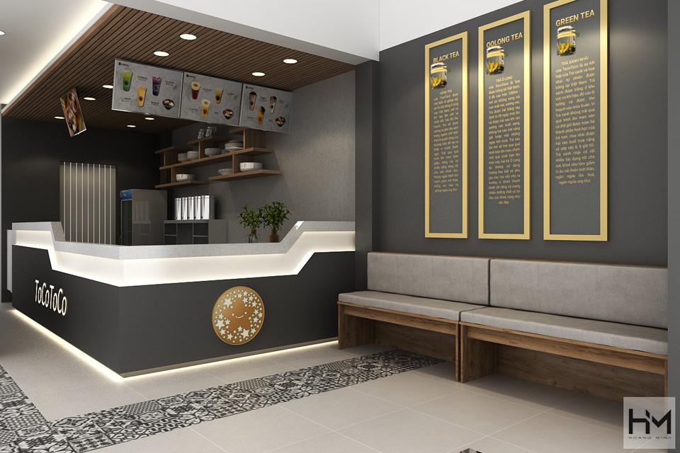 Công ty thiết kế thi công quán trà sữa diện tích nhỏ chuyên nghiệp