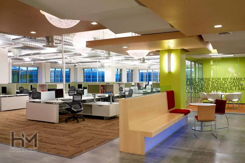 Đơn vị thiết kế và thi công văn phòng 50m2 phong cách tối giản