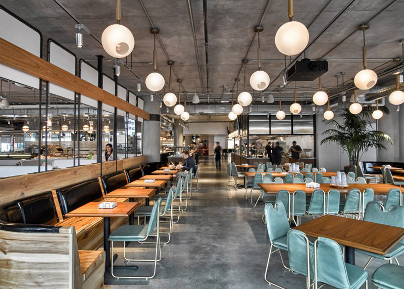 industrial style cafe