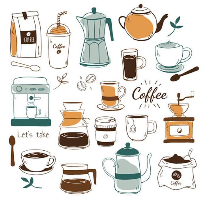 vat dung mo quan cafe