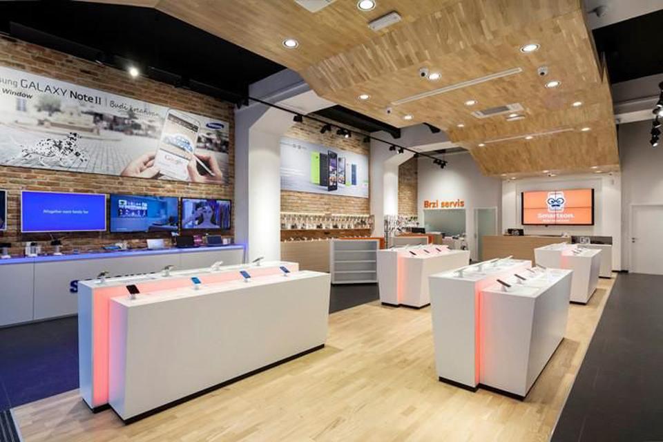 Phong cách thiết kế thi công nội thất cửa hàng điện thoại giới trẻ thích