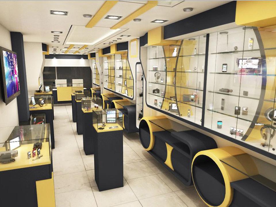 Xu hướng thiết kế và thi công nội thất cửa hàng điện thoại đẳng cấp