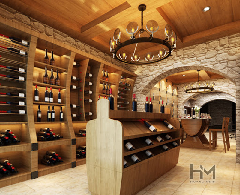 Tìm hiểu Thiết kế nội thất nhà hàng hầm rượu giá rẻ tại TpHCM